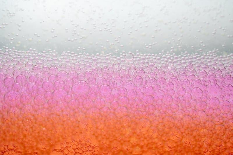 Bakgrund för textur för rosa färggulingbubbla royaltyfria foton