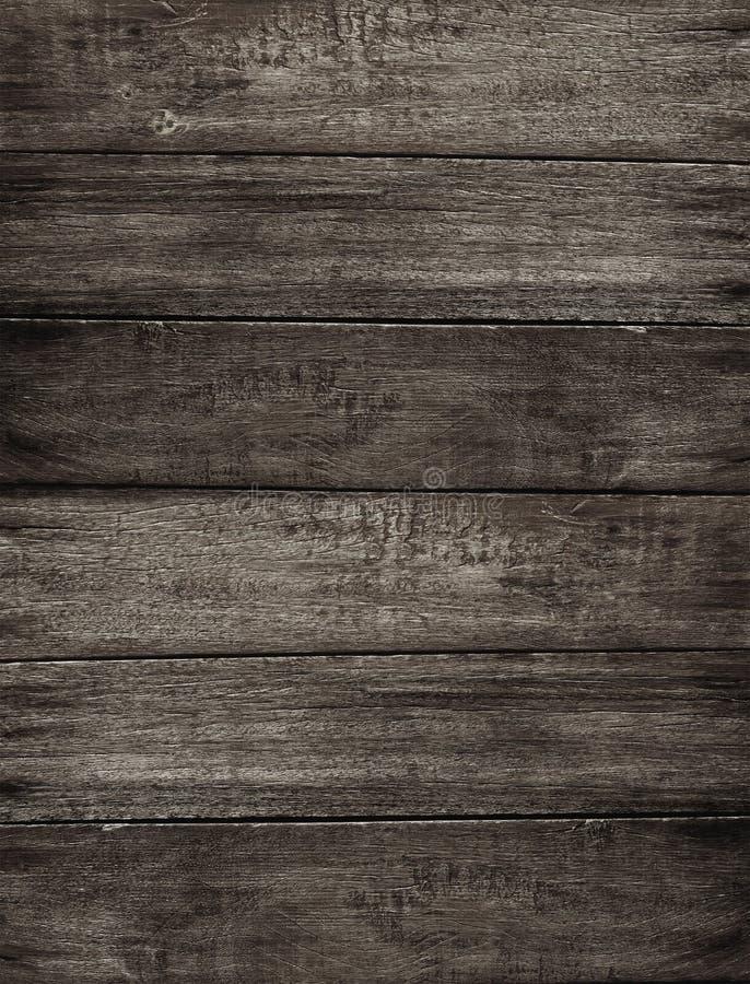 Bakgrund för trä för Grungemörkerbrunt arkivfoton