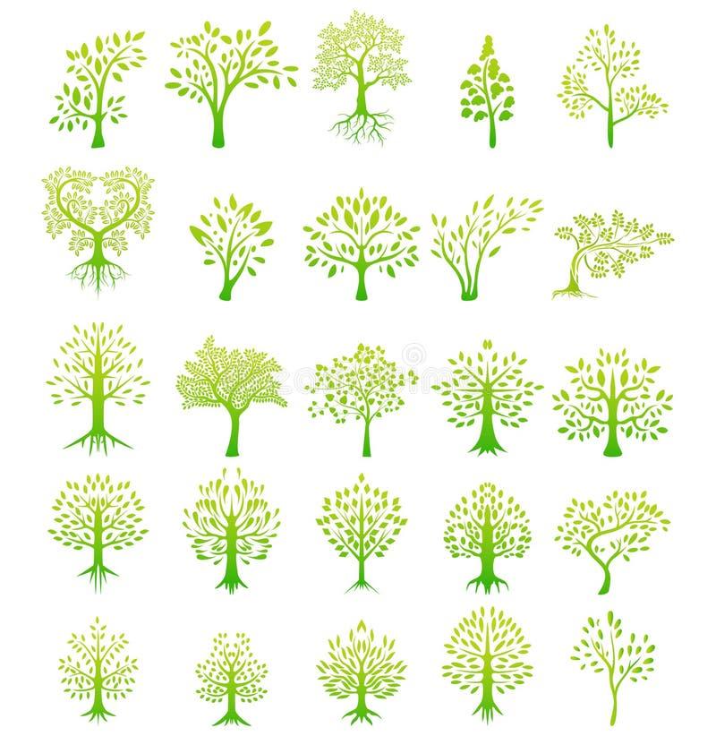 Bakgrund för trädkonturliv royaltyfri illustrationer