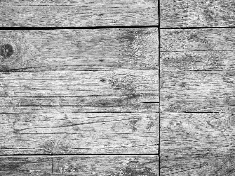 Bakgrund för trätextur av svart och vitt format royaltyfri foto