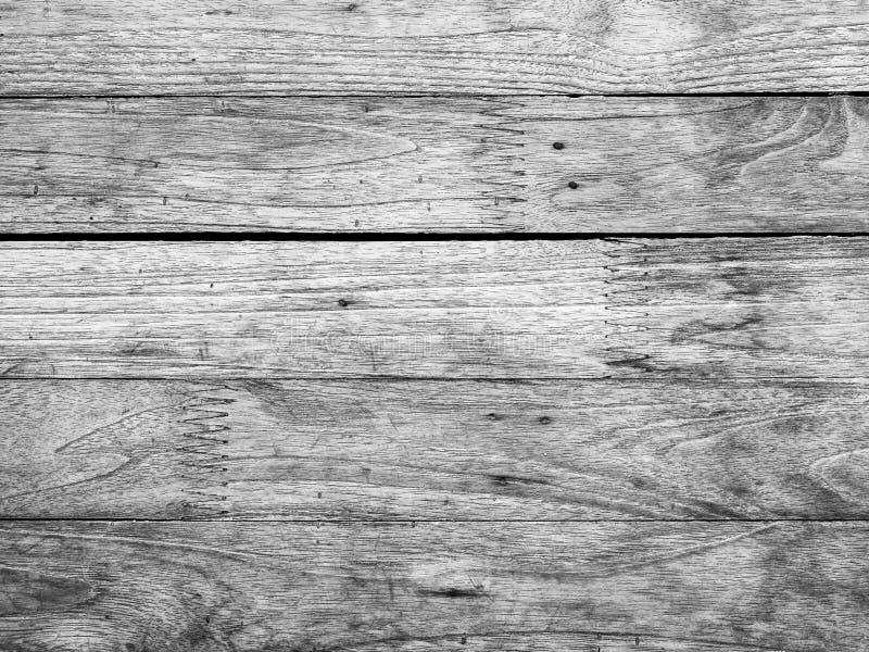 Bakgrund för trätextur av svart och vitt format royaltyfri bild