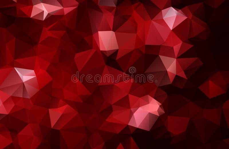 Bakgrund för triangel för vektorpolygonabstrakt begrepp modern Polygonal geometrisk Mörker - röd geometrisk triangelbakgrund stock illustrationer