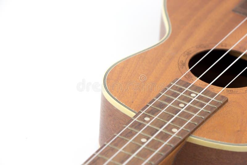 Bakgrund för ukuleleisolatvit fotografering för bildbyråer