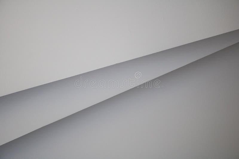 Bakgrund f?r v?gg f?r modell f?r abstrakt rumband vit horisontal inre modernt arkivfoton