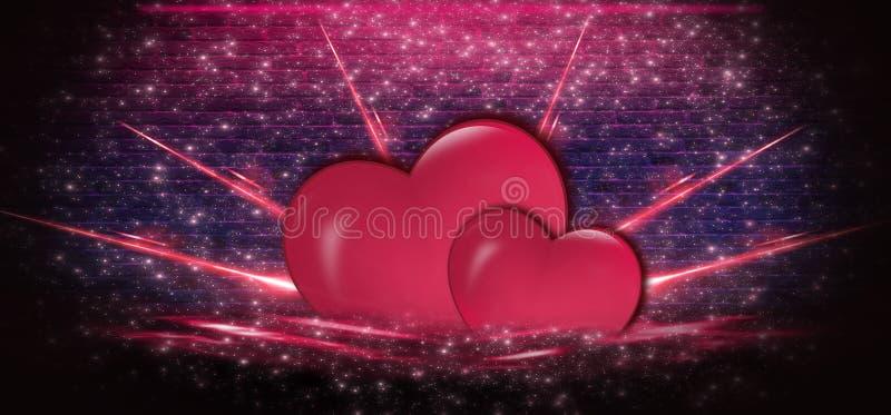 Bakgrund för valentindagförsäljning som är röd med hjärta Röd romantisk bakgrund för hälsningkort eller räkningar för ferien av S vektor illustrationer