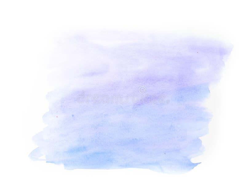 Bakgrund för vattenfärg för abstrakta havsblått som mjuk isoleras på vit b arkivfoto