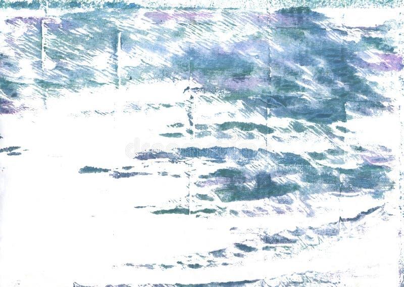 Bakgrund för vattenfärg för tennblåttabstrakt begrepp royaltyfri bild