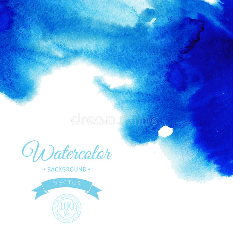 Bakgrund för vattenfärg för vektorabstrakt begrepp hand dragen, vektorillustration, fläckvattenfärgfärger som är våta på vått pap stock illustrationer