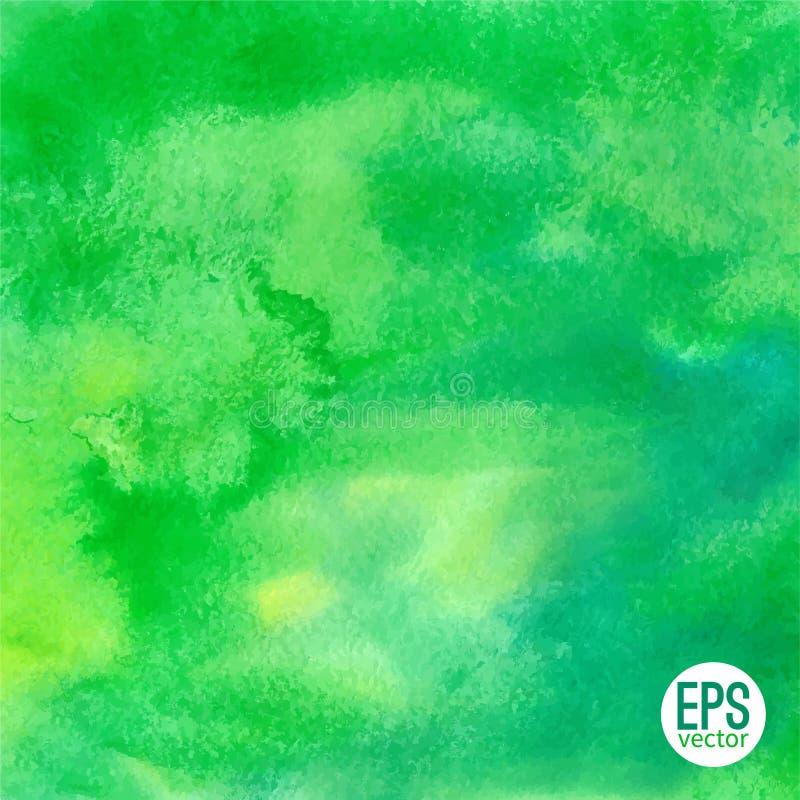Bakgrund för vattenfärg för vektorgräsplanabstrakt begrepp hand dragen stock illustrationer