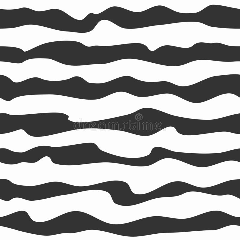 Bakgrund för vektor för band för genomskinlig sebrasvart vit sömlös stock illustrationer