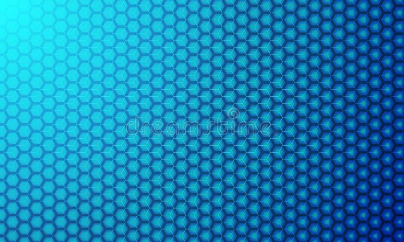 Bakgrund för vektor 3D för sexhörning modern Geometriska beståndsdelar för din design, modern bakgrund för digital teknologi stock illustrationer