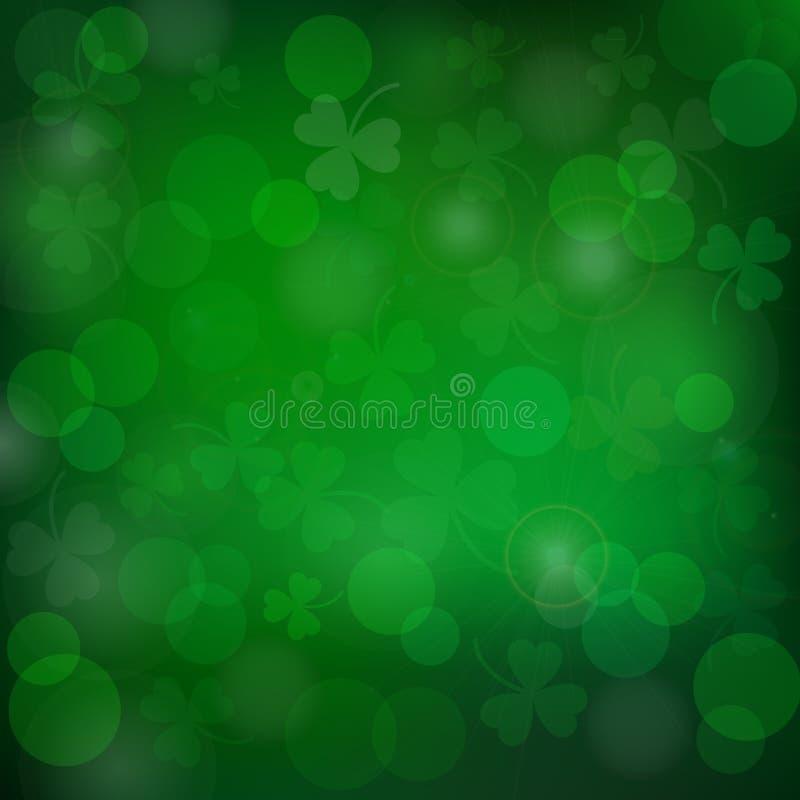 Bakgrund för vektor för dag för St Patrick ` s vektor illustrationer