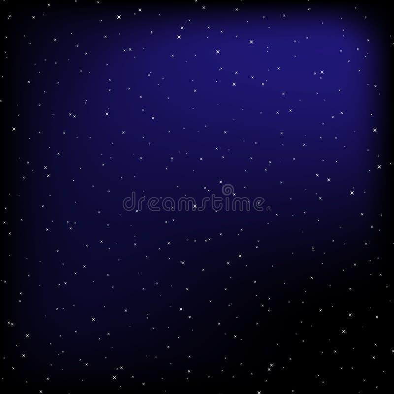 Bakgrund för vektor för natthimmel stock illustrationer
