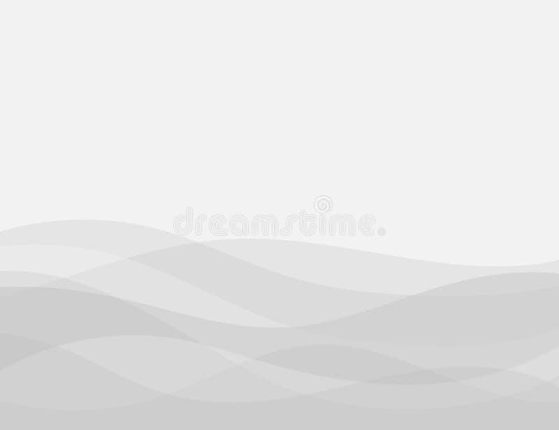 Bakgrund för vektor för grått vågbegrepp abstrakt vektor illustrationer