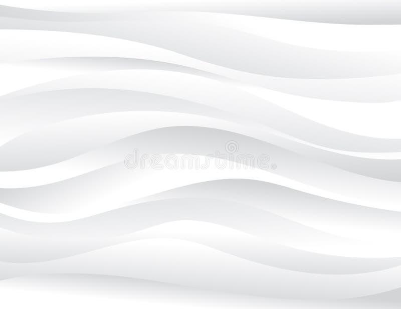 Bakgrund för vektor för grått vågbegrepp abstrakt stock illustrationer