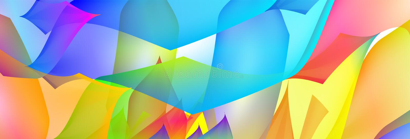 Bakgrund för vektor för lutningabstrakt begrepputrymme mångfärgad med illustrationfläckar Modellen kan användas för aquaannonsen, stock illustrationer