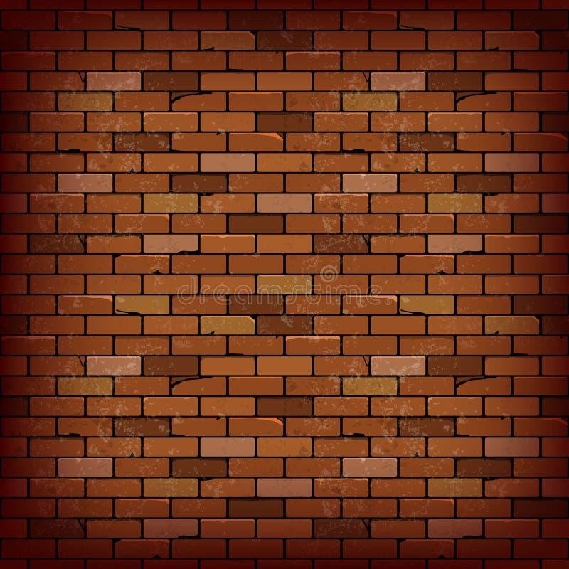 Bakgrund för vektor för vägg för röd tegelsten royaltyfri illustrationer
