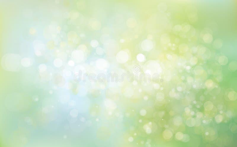 Bakgrund för vektorgräsplanblått royaltyfri illustrationer