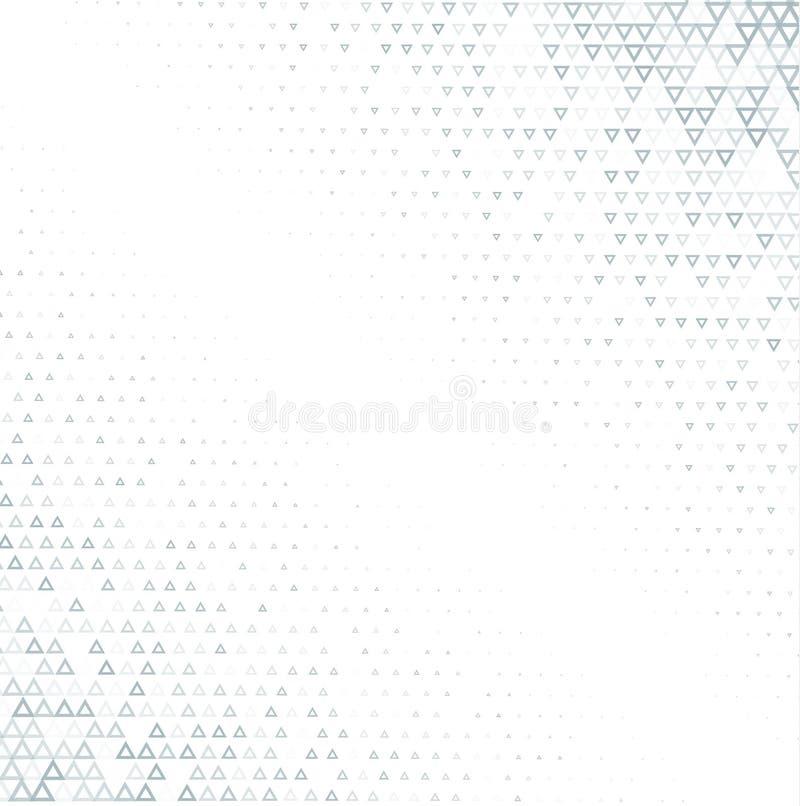 Bakgrund för vektorhalvtonabstrakt begrepp, för texturlutning för grå vit gradering Den geometriska mosaiktriangeln formar monokr royaltyfri illustrationer