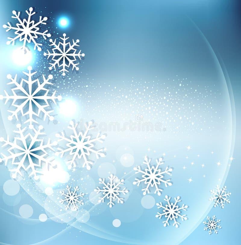 Bakgrund för vektorjulferie med snöflingor royaltyfri illustrationer