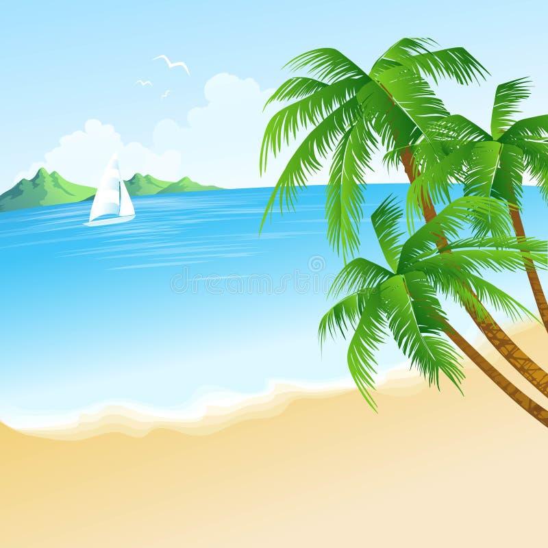 Bakgrund för vektorn för sommarferier med gömma i handflatan royaltyfri illustrationer