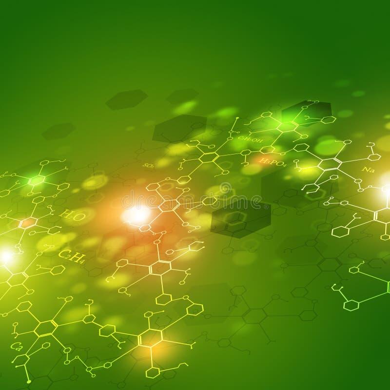 Bakgrund för vetenskapsabstrakt begreppgräsplan stock illustrationer
