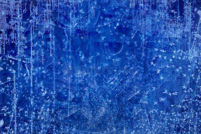 Bakgrund för vinter för textur för is för konstjul blå royaltyfria foton