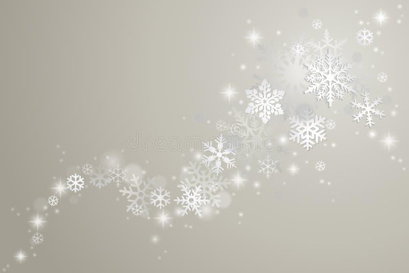 Bakgrund för vinterferie stock illustrationer