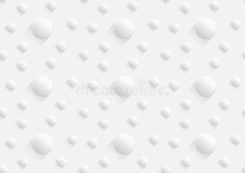 Bakgrund för vit modell för knapp för papperssnitt sömlös illustration stock illustrationer