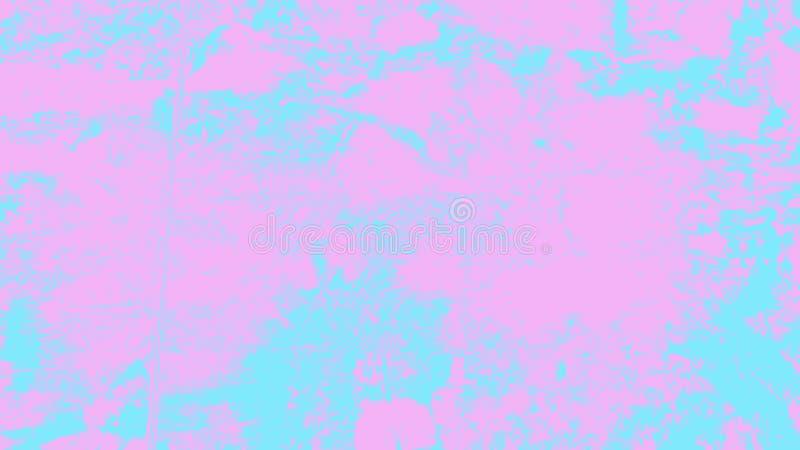Bakgrund för yttersida för målarfärg för tappning för färgpulver för rosa blå illustration för grungeväggtextur dekorativ grov fö royaltyfri fotografi