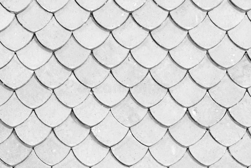 Bakgrund för yttersida för textur för tempel för tegelplattatak thailändsk royaltyfri bild