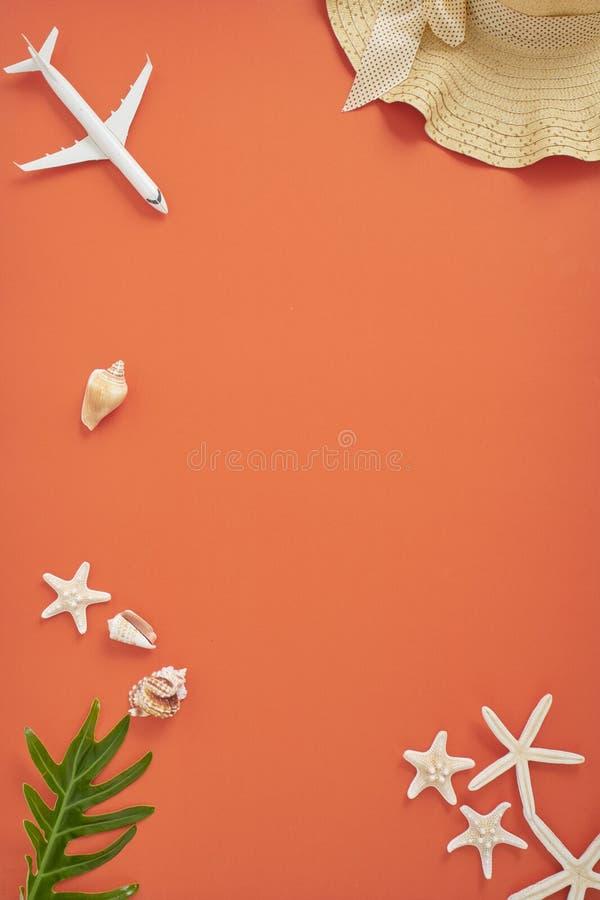 Bakgrund f?r begrepp f?r semester f?r sommarferie orange arkivfoto