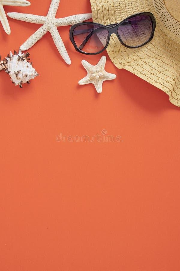Bakgrund f?r begrepp f?r semester f?r sommarferie orange arkivbild