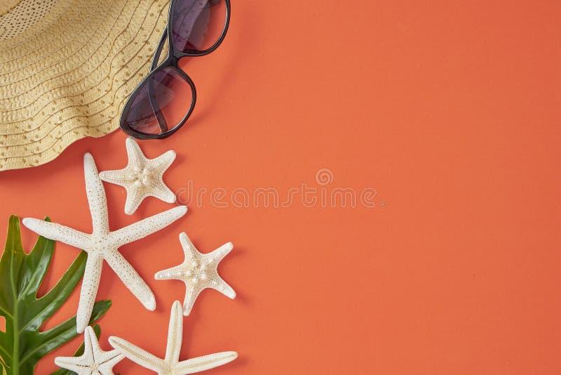 Bakgrund f?r begrepp f?r semester f?r sommarferie orange royaltyfri bild