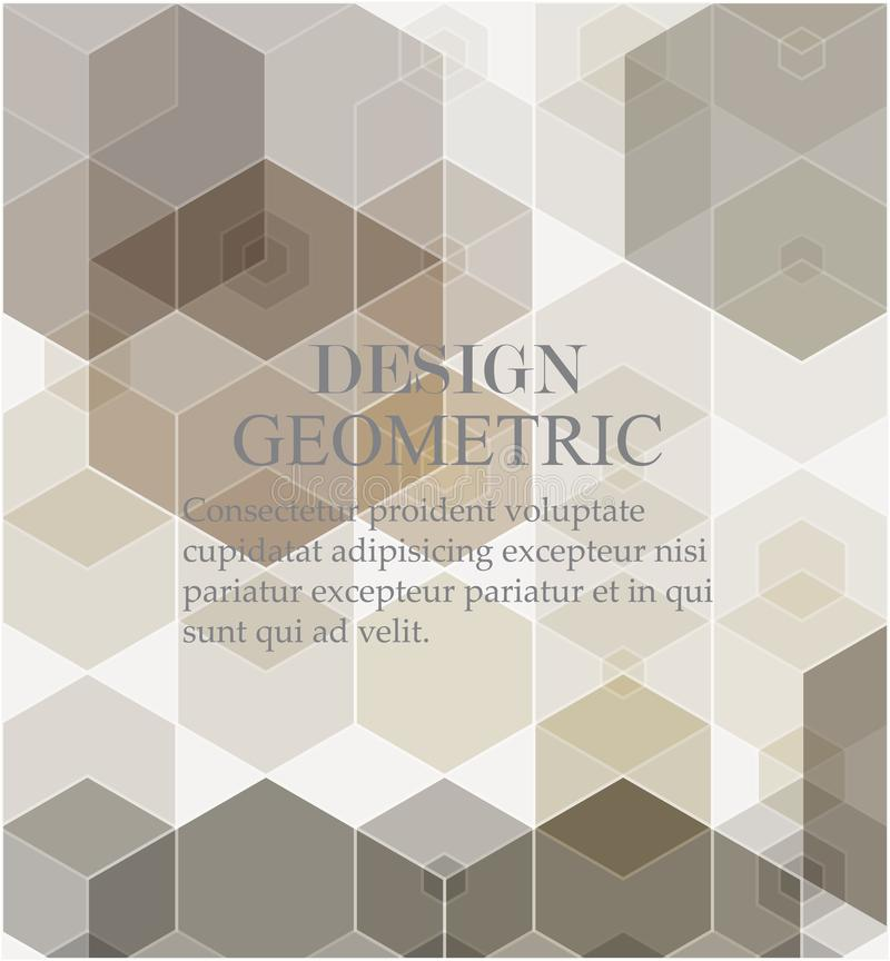 Bakgrund f?r Digital teknologi Geometrisk abstrakt bakgrund med sexh?rningar royaltyfri illustrationer