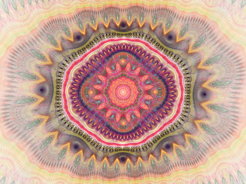 Bakgrund f?r kalejdoskopmodellabstrakt begrepp Geometrisk symmetrisk prydnaddesign stock illustrationer