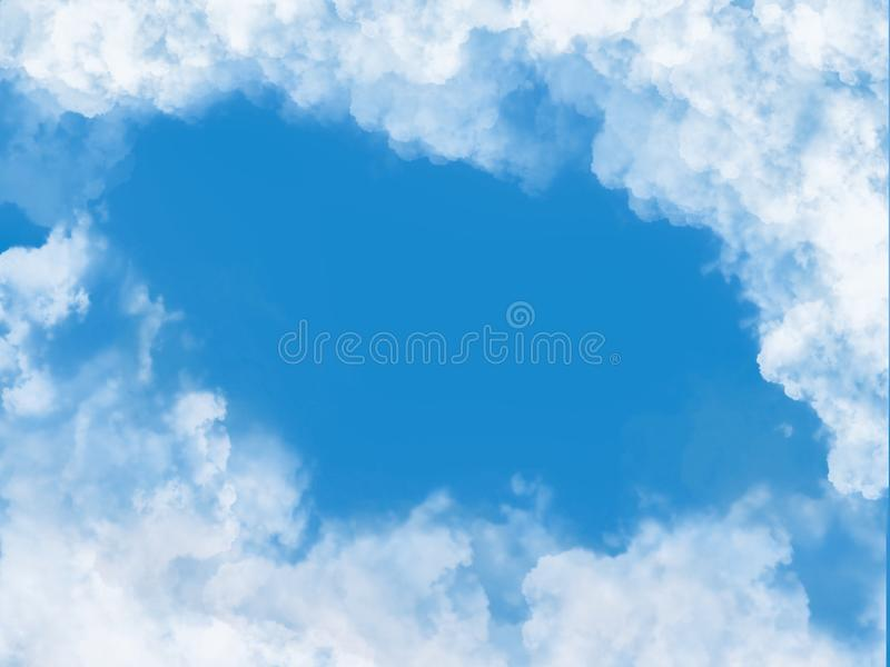 Bakgrund f?r moln och f?r bl? himmel arkivbild