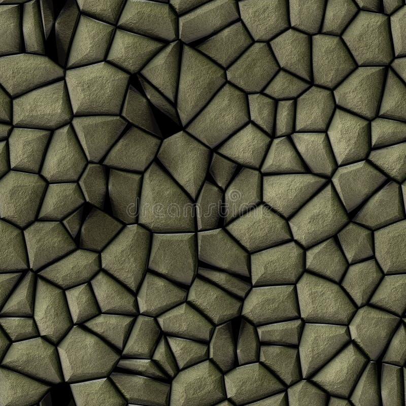 Bakgrund f?r textur f?r modell f?r kullerstenstenmosaik s?ml?s - guld- naturliga kul?ra stycken f?r trottoar royaltyfri illustrationer