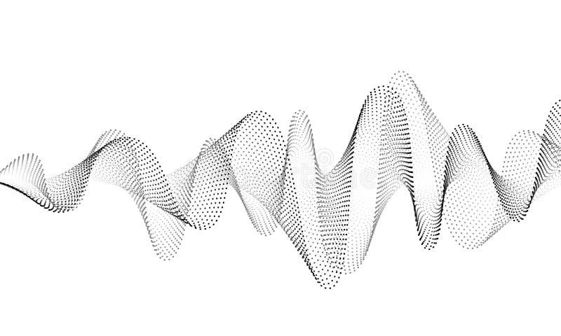 Bakgrund f?r vektor f?r solid v?g Ljudsignal musiksoundwave Illustration f?r form f?r st?mmafrekvens Vibrationen sl?r i waveform royaltyfri illustrationer