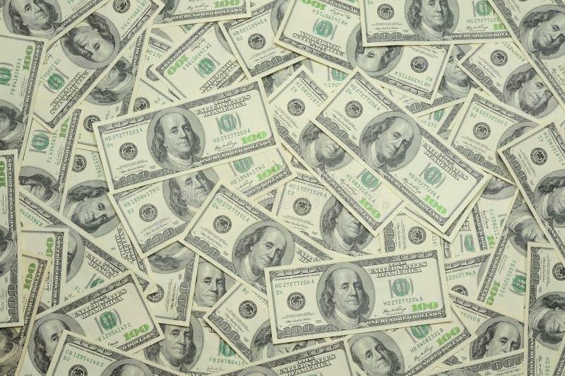 bakgrund fakturerar dollar hundra en oss royaltyfria bilder