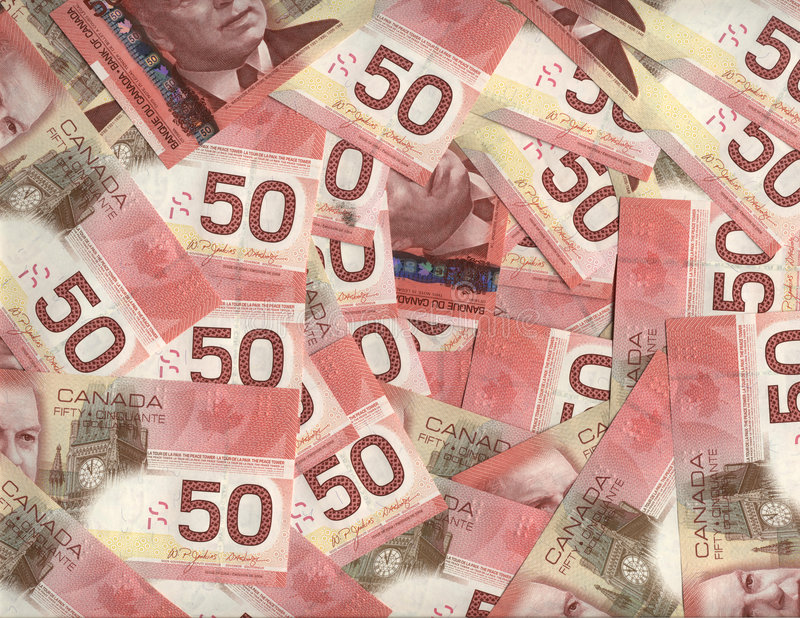 bakgrund fakturerar kanadensisk dollar femtio royaltyfri fotografi