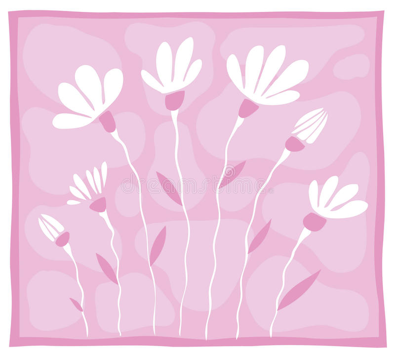 bakgrund few blommar rosa white arkivfoton
