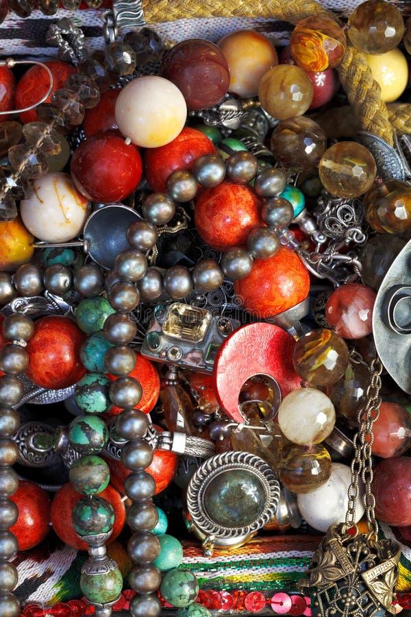 Bakgrund från antika smycken royaltyfria foton