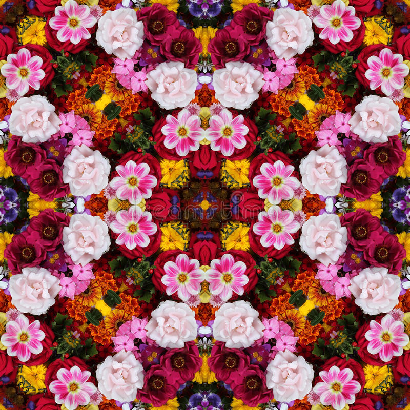 Bakgrund från blommor prydnad, modell royaltyfri foto