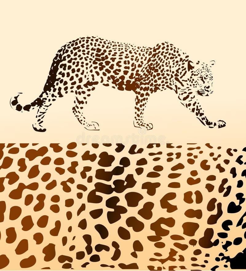 Bakgrund från leopard royaltyfri illustrationer