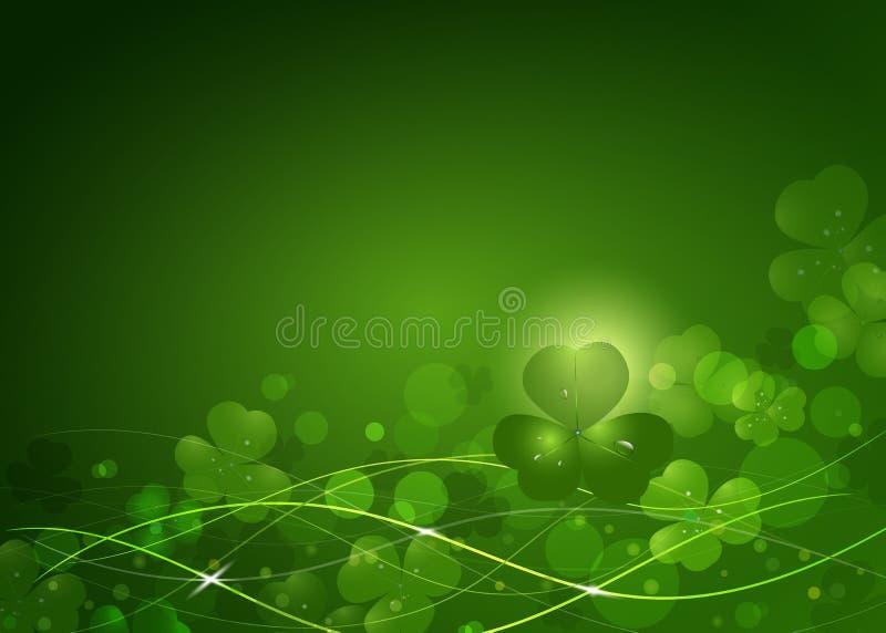 Bakgrund från sidorna av växten av släktet Trifolium till dagen för St Patrick ` s stock illustrationer