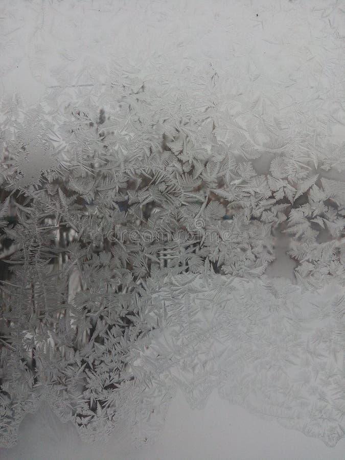 Bakgrund frostigt som är härlig, natur, abstrakt begrepp, vinter, jul, förkylning, fönster, is som är delikat, modell, textur, lj arkivfoto