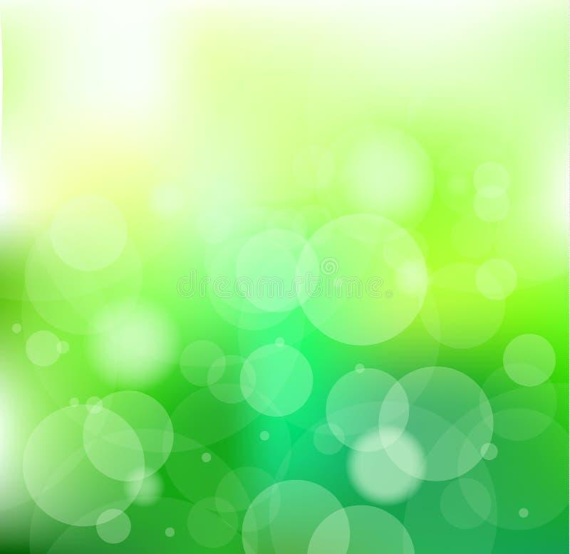 bakgrund går den gröna slogan stock illustrationer