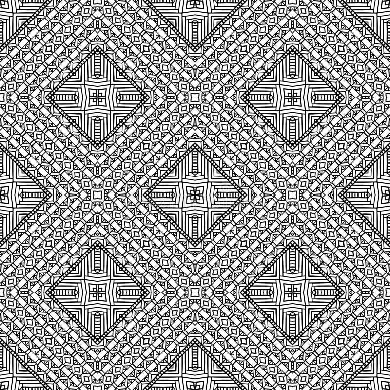 Bakgrund geometrisk sömlös modell för abstrakt begrepp, vektor royaltyfri illustrationer