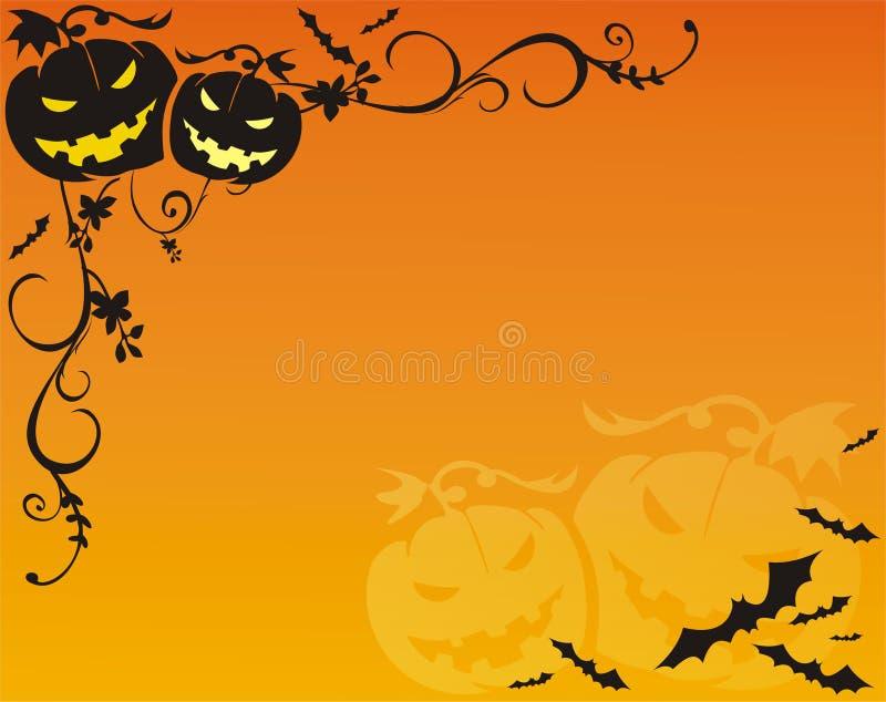 bakgrund helloween royaltyfri illustrationer